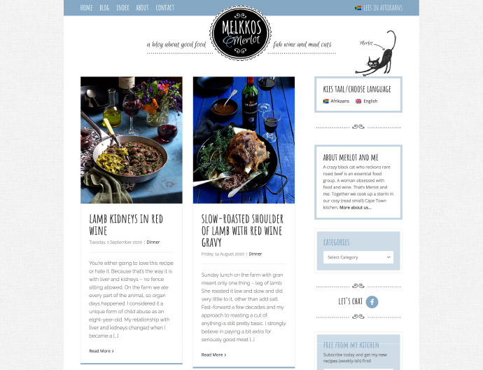 Melkkos & Merlot Website Project