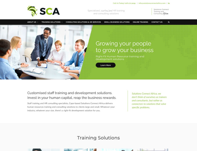 Solutions Connect Africa Website Project
